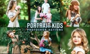 Portrait Kids Photoshop Actions LQT5SJD