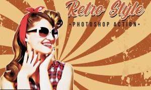 Retro Photoshop Action F64HJLC