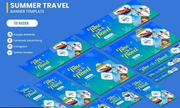 Travel Summer Banners Ad UPYRHK2