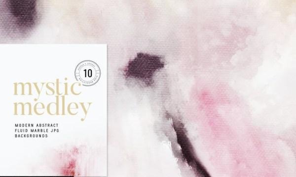 Mystic Medley Abstract Painterly JPG Backgrounds HREJ2Z9