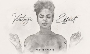 Vintage Watercolor Effect for Photoshop X2VQW3G