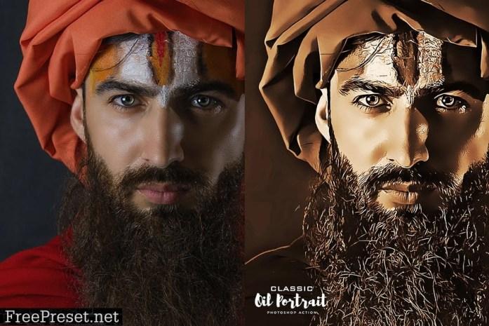 Classic Oil Portrait Photoshop Action P6XHELP