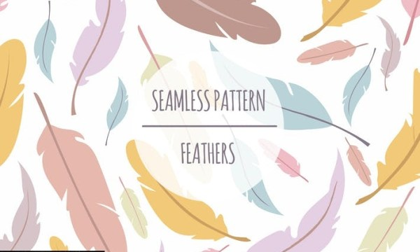 Feather – Seamless Pattern RHNM67Q