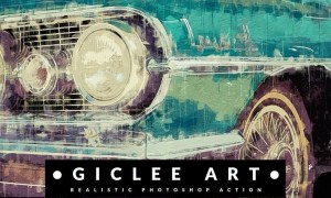 Giclee Art - Realistic Painting Photoshop Action 3KU8ATC