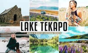 Lake Tekapo Mobile & Desktop Lightroom Presets