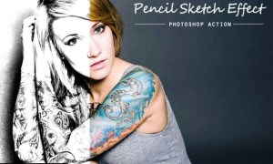 Pencil sketch | PSD action 4JNB3ND
