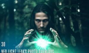 30 Neo Light Leaks Photo Overlays NP24HV5