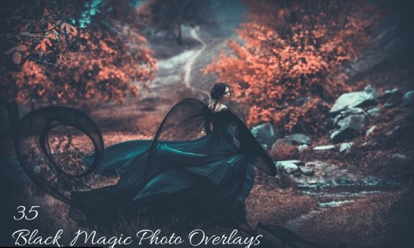35 Black Magic Photo Overlays