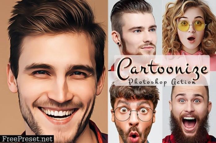 Cartoonize Action Photoshop 22FWVFZ
