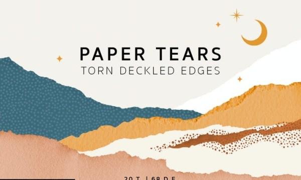 Torn Deckled Paper Edges 7GZXJAX