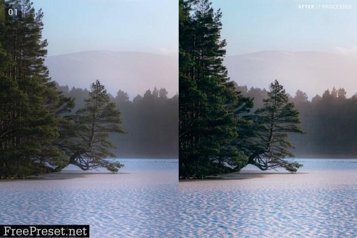 8 Landscape Pro Lightroom Presets + Mobile