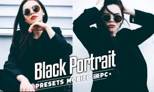 Black Tones Portrait Lightroom Presets Mobile & PC
