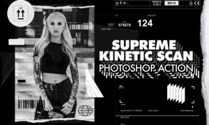 Supreme Kinetic Scan Photoshop Action JXJFFFR