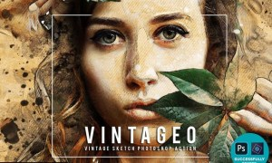 Vintageo - Vintage Sketch Photoshop Action QT3GXPW