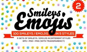 100 Emoji & Smiley Bundle Pack Vol 2 2XCMKR6