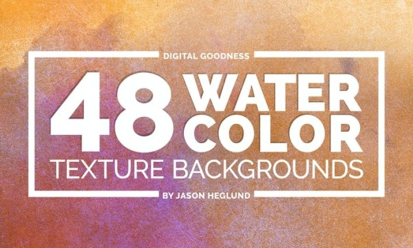 48 Watercolor Backgrounds EANZ7H