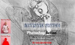 Artistic Sketch Photoshop Action 5925157