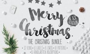 Christmas bundle hand-drawing icons WV4ZD7