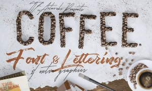 Coffee Beans - Font & Lettering 4Z34CB