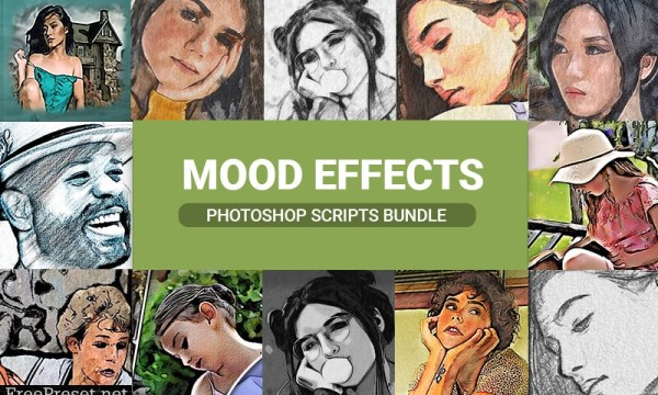 Mood Effects Photoshop Scripts Bundle- Vol 1 & Vol 2