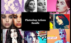 Photoshop Actions Bundle 8 in 1 3755796