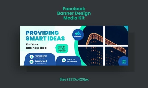 Promotional Facebook Banner, Corporate & Business P53QRT6
