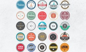 Retro Colorful Badges and Logos NQJUNY