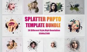 SPLATTER PHOTO TEMPLATE BUNDLE 4957159