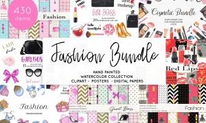 Watercolor Fashion Makeup Bundle 3826179