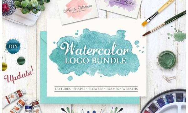 Watercolor Logo Bundle. DIY Z4QAYG