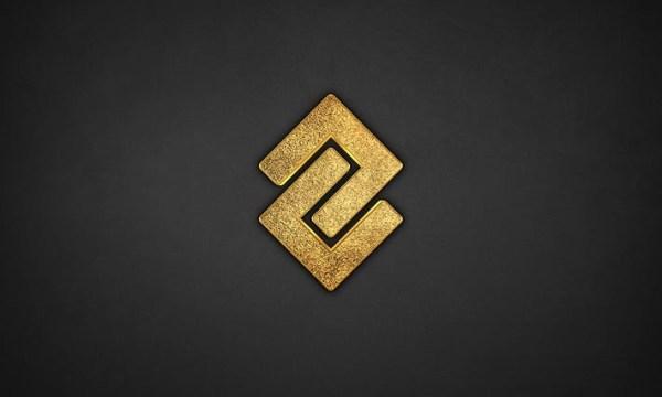 3D Glitter Gold Logo Mockup 2UVKUJX