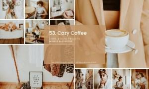 53. Cozy Coffee Lightroom presets