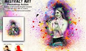 Abstract Art Photoshop Action 5480258