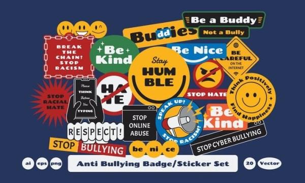 Anti Bullying Badge Sticker 6ZR4M6H
