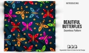 Beautiful Butterflies Pattern XP8PRGK