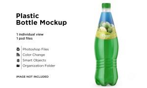 Clear Plastic Drink Bottle Mockup 6063286