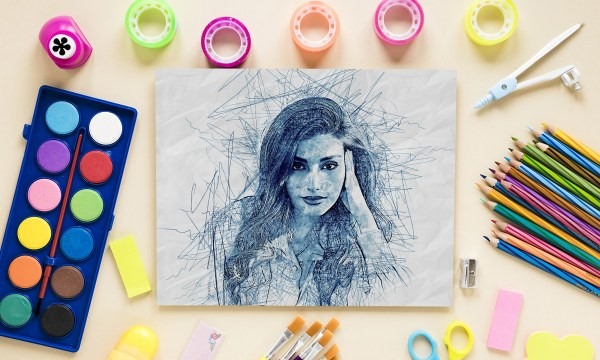 Scribble Sketch Photoshop Action 31050617