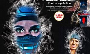 Smoke Sketch Photoshop Action 5883898
