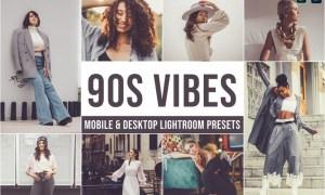 90s Vibes Mobile and Desktop Lightroom Presets