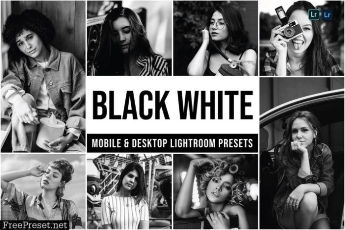 Black White Mobile and Desktop Lightroom Presets