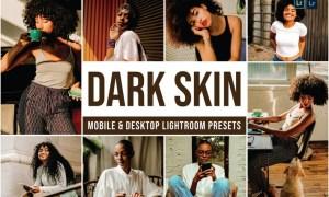 Dark Skin Mobile and Desktop Lightroom Presets