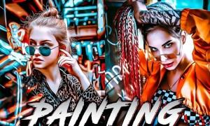 Painting Photoshop Aqction