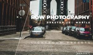 Row Photography Desktop &Mobile Lightroom Preset