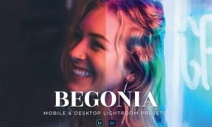 Begonia Mobile and Desktop Lightroom Presets