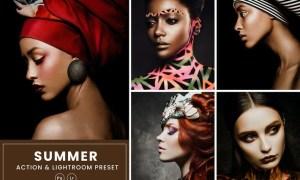 Portrait Photoshop Action & Lightrom Preset