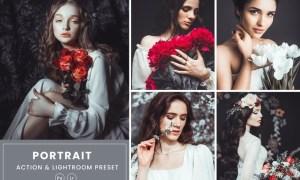Portrait Photoshop Action & Lightrom Presets