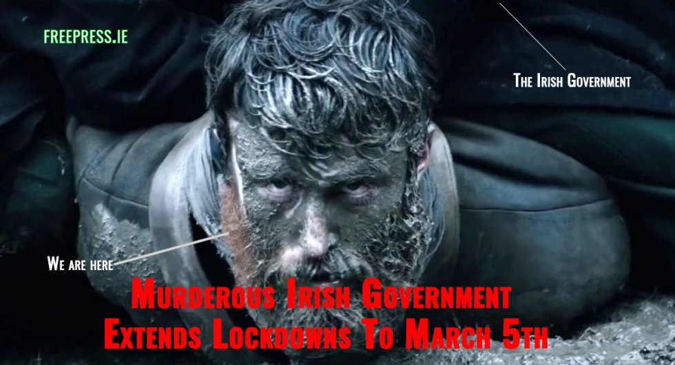 Irish-Government-Extends-Lockdowns-To-March-5th