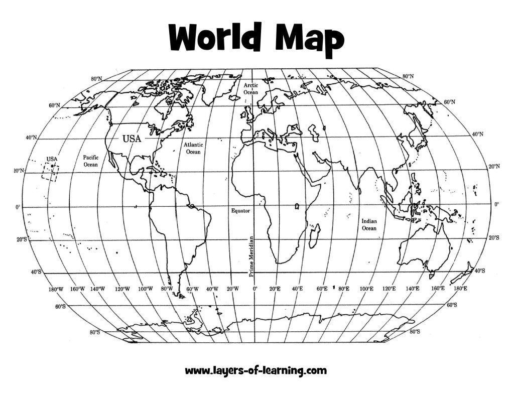 Us Map With Latitude And Longitude Printable