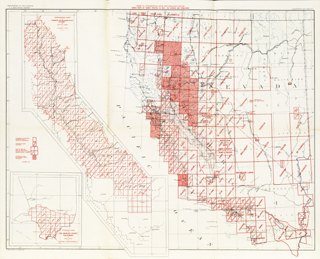 California Topographic Map Elevations