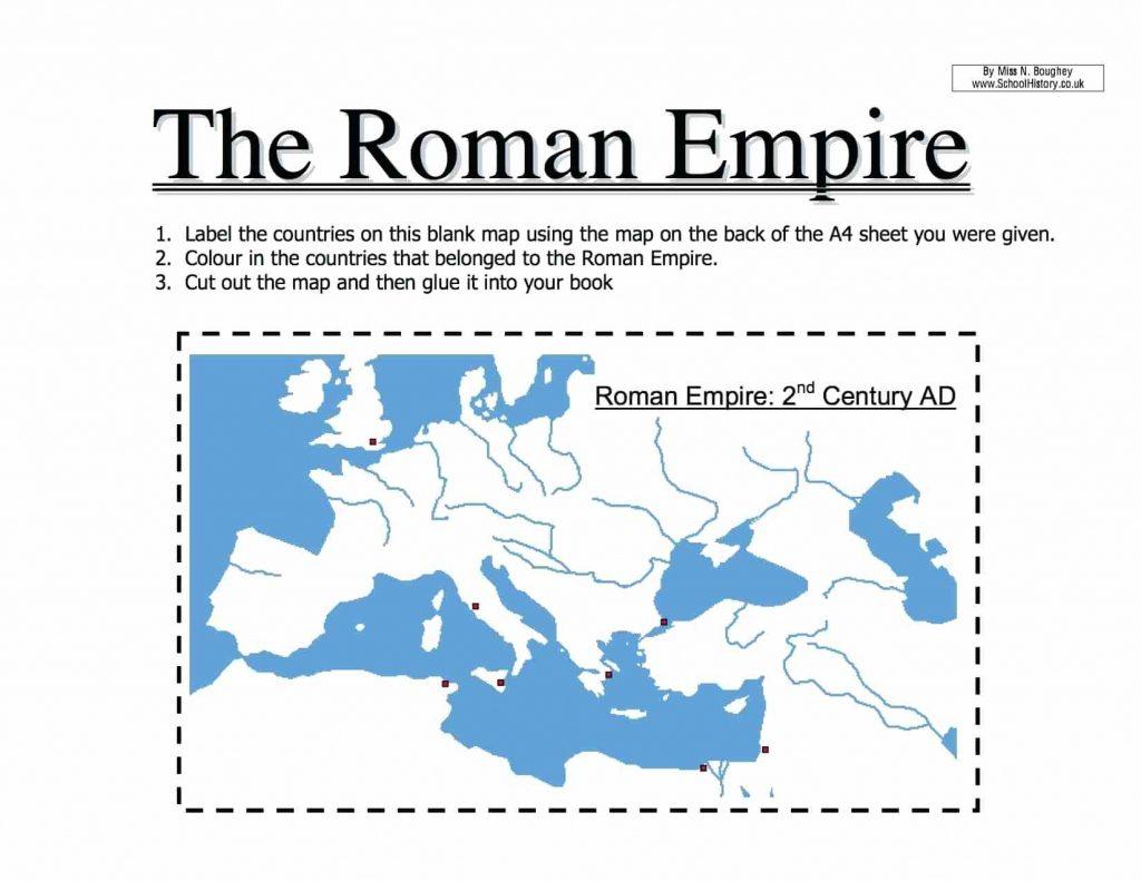 Roman Empire Worksheets Karenlynndixon